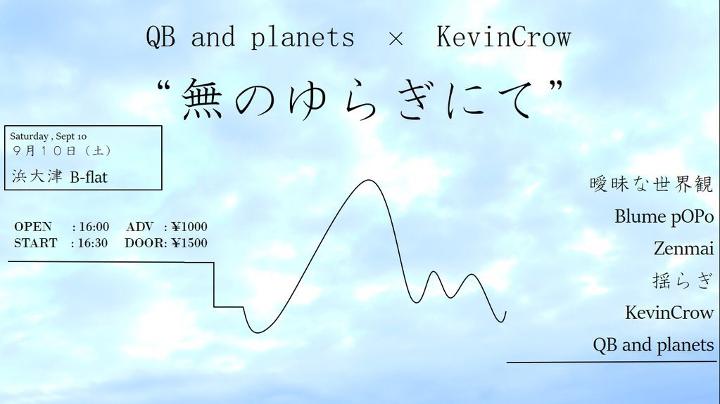 "QB and planets × KevinCrow ""無のゆらぎにて"""